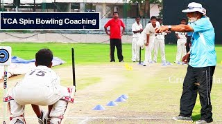 Telangana Cricket Association Spin Bowling Coaching By chief Coach Abid Ali - Cricket Hyderabad