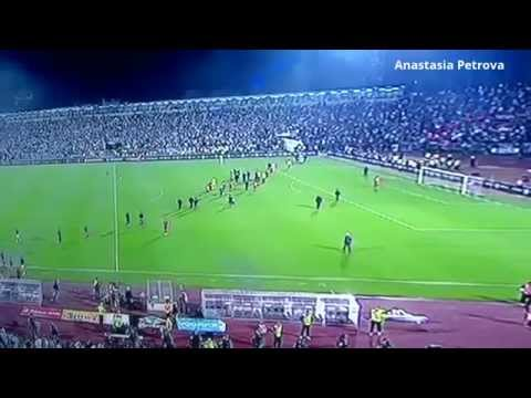 VIDEO Match Interrupted by Drone With Albanian Flag Serbia Vs Albania FIGHT