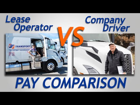 COMPANY TRUCK DRIVERS OR lease operator, pay comparison. OWNER OPERATOR VS COMPANY DRIVER. Paystubs