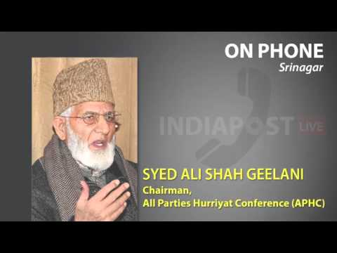 Syed Ali Shah Geelani speaks on Rehabilitation of Kashmiri Pandits.