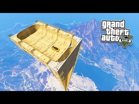 GTA 5 Mods EXTREME VERTICAL RAMP!!! GTA 5 Mega Ramp Mod Gameplay! (GTA 5 Mods Gameplay)
