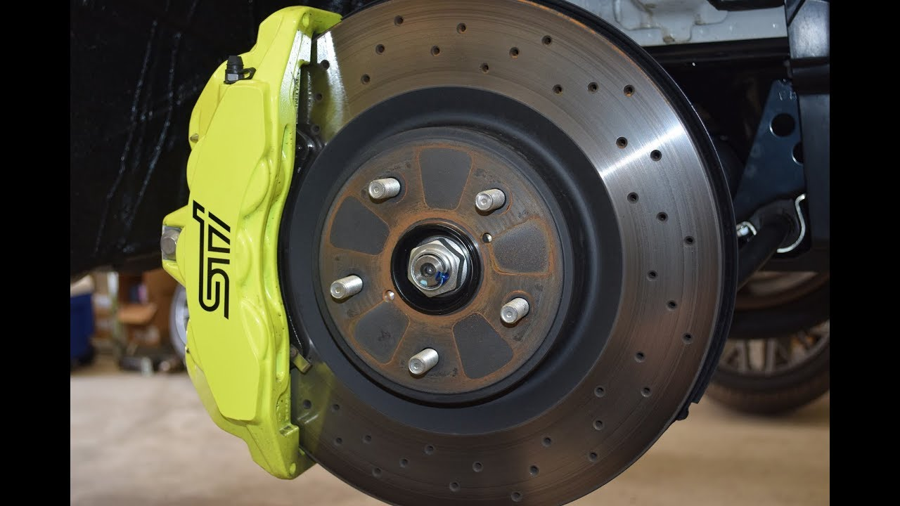 Brembo Brake Pads >> A look at the 2018 STI Big Brakes! - YouTube