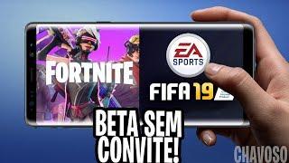 OFICIAL😱FORTNITE MOBILE ANDROID CELULARES INCOMPATÍVEIS, FINALMENTE SAIU BETA FIFA 2019 MOBILE