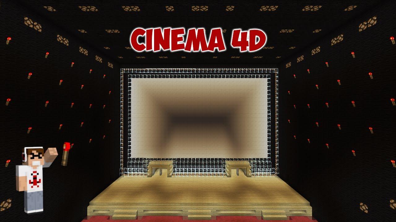 cin ma 4d th tre salle de spectacle dans minecraft youtube. Black Bedroom Furniture Sets. Home Design Ideas