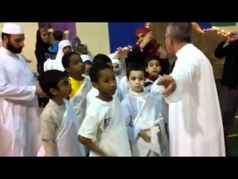 Hadia,Huzhaifah &huda performing huj