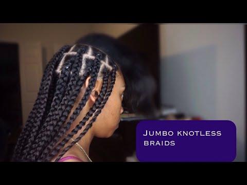 Diy Jumbo Knotless Box Braids From Start To Finish