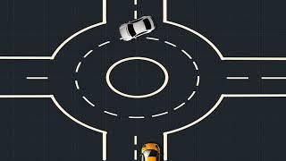 видео Проезд перекрестков с круговым движением в 2018 году: правила по ПДД