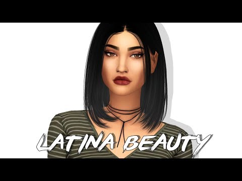 The Sims 4 CAS: Latina Beauty | FULL CC LIST & SIM DOWNLOAD