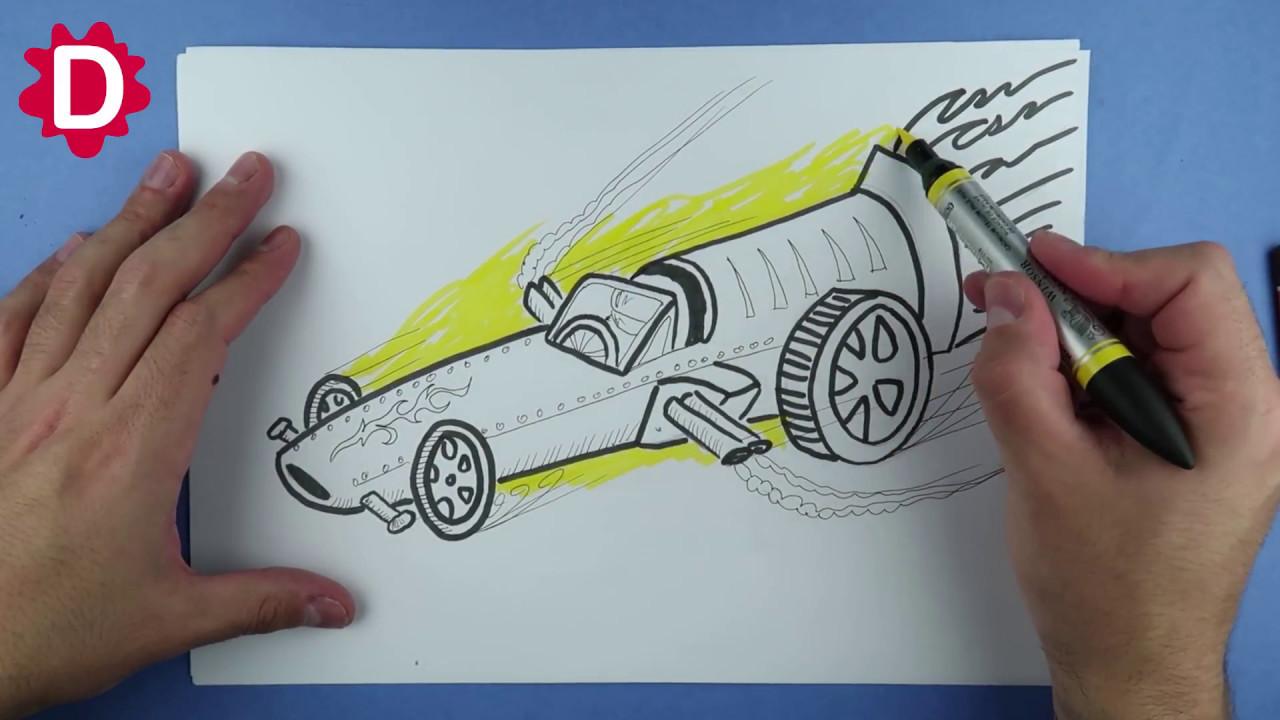 Carro Turbo De Corrida Como Desenhar Youtube