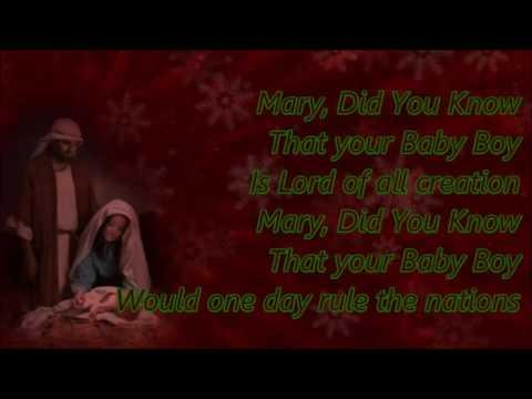 Danny Gokey Mary, Did You Know Lyrics - YouTube