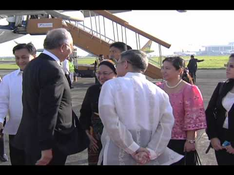 Arrival of Malaysian Prime Minister 10/14/2012