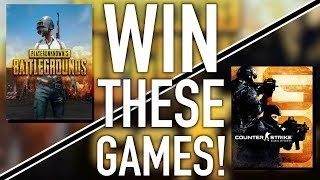 Want A Chance To Win PUBG Or Counter Strike GO?