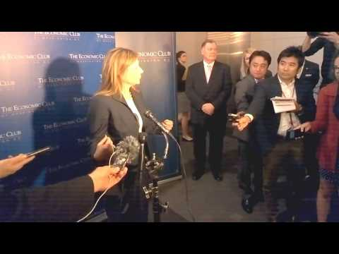 CI MENA speaks to GM CEO Mary T. Barra at Economic Club of DC