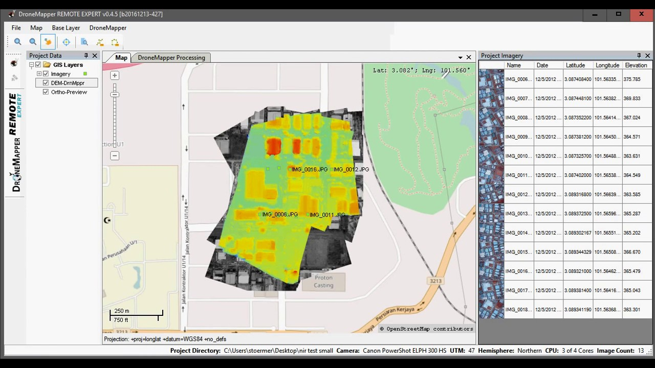 Simple Drone Mapping Software For Orthomap Digital Elevation Models - Drone mapping software free
