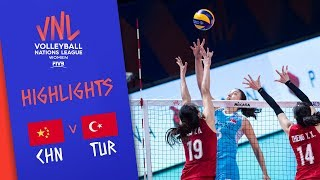 CHINA Vs. TURKEY - Highlights Women | Final Round | FIVB Volleyball Nations League 2019