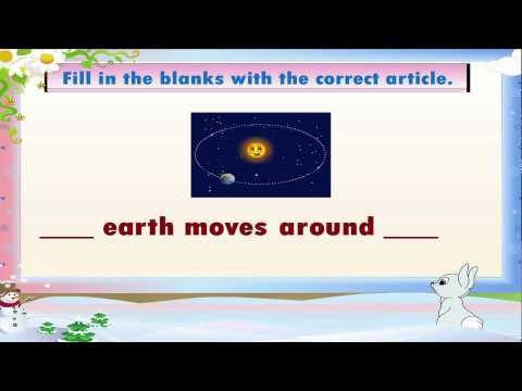 Learn Grade 3 - English Grammar - Articles