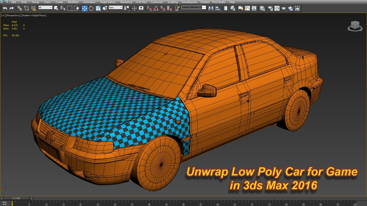 3ds max low poly cars