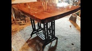 эТО РЕАЛЬНО СДЕЛАТЬ САМОМУ-Винтажный стол из швейной машинки