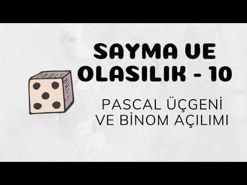 Sayma ve Olasılık - 10 (Pascal Üçgeni ve Binom Açılımı)