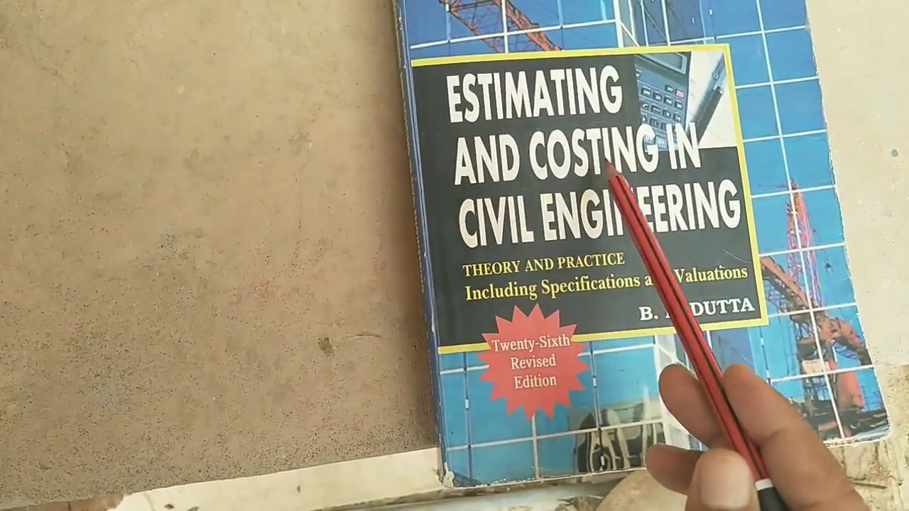 By estimating book and bn dutta costing