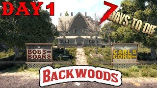 7 Days To Die - Random Horde Nights - Backwoods (Day 1)
