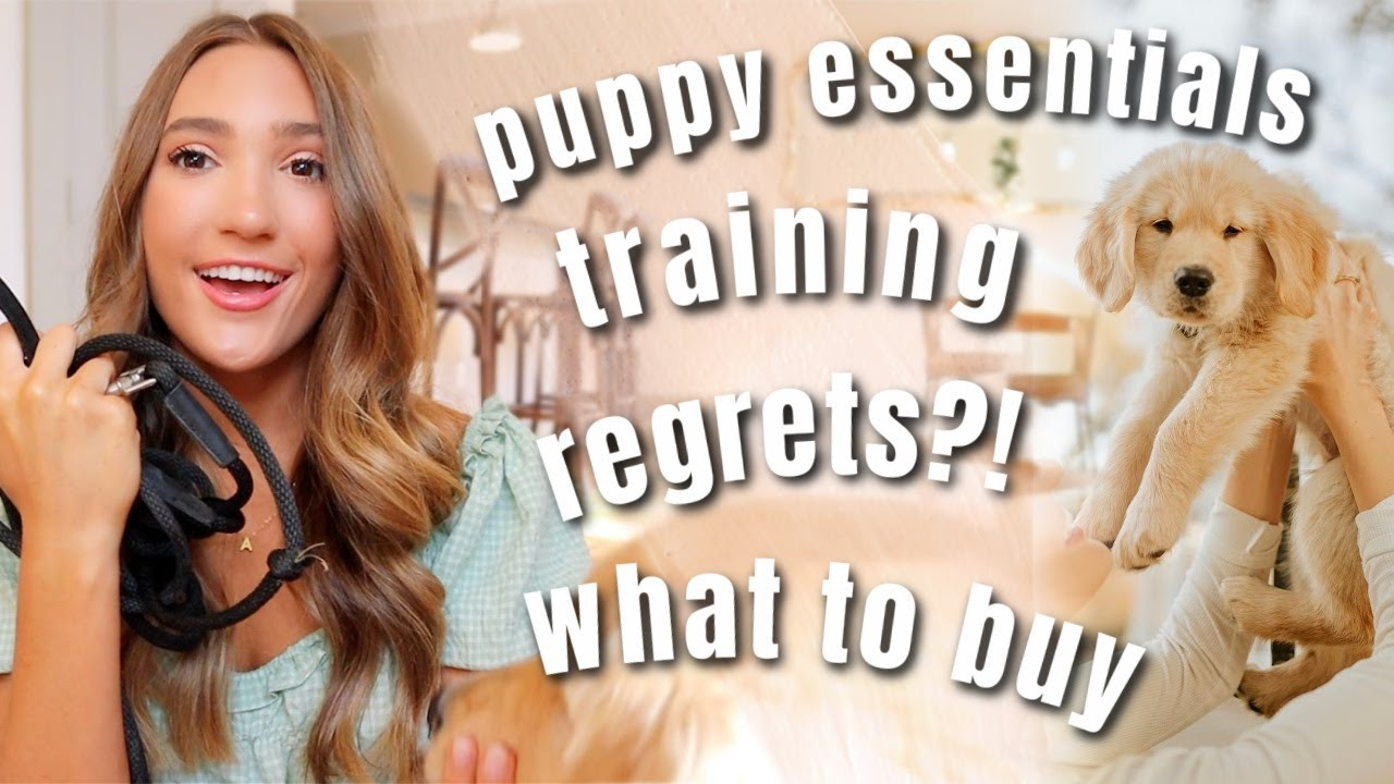 NEW PUPPY ESSENTIALS   Everything We Bought + How We Trained Our Golden Puppy!