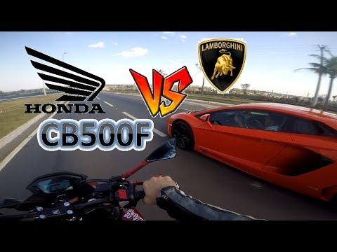 HONDA CB500F - TOPSPEED + LAMBORGHINI