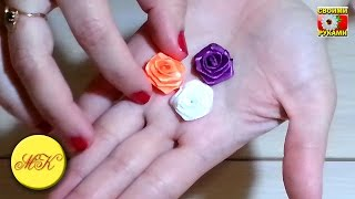 "It is a tutorial ""How to make small roses of satin ribbon"". Fast an..."