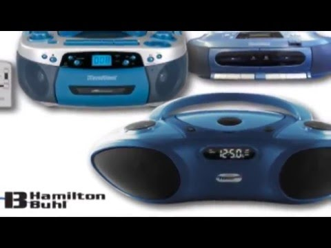 HamiltonBuhl HACX-205 Top-Loading Portable Classroom CD Player with USB and MP3
