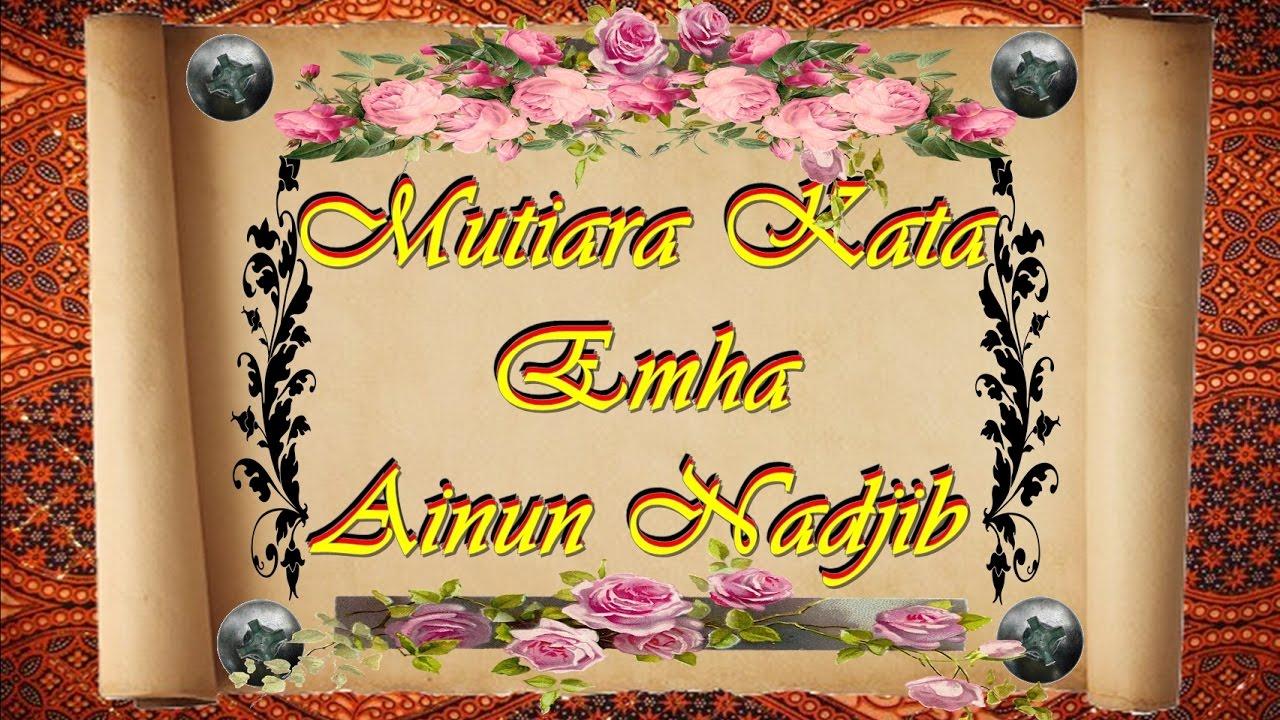 MUTIARA HIKMAH Emha Ainun Nadjib Cak Nun YouTube