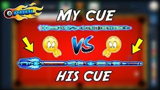 PLAYING AGAINST THE BEST CUE EVER IN 8 BALL POOL...(watch what happens)