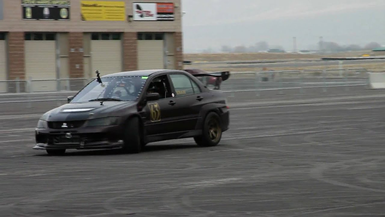 cobb tuned evo doing donuts on wide ass race tires! - youtube