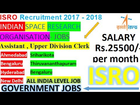 ISRO Recruitment For All Graduates || Arts/Commerce/Science/B.sc || Sarkari Naukri