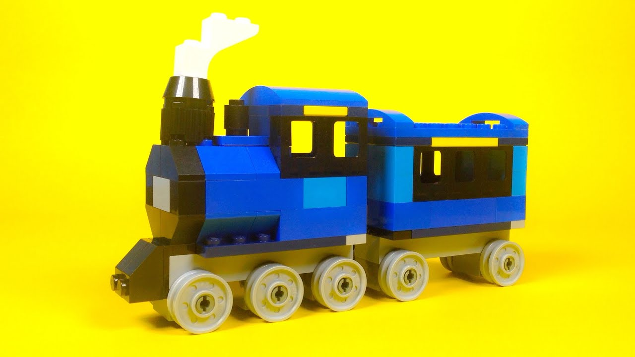 Lego steam train building instructions lego classic for Lego classic house instructions