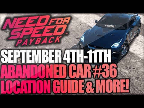 Need For Speed Payback Abandoned Car #36 - Location Guide + Gameplay - Mitko Vasilev Nissan GT-R!