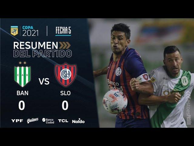 Copa De La Liga | Fecha 5 | resumen de Banfield - San Lorenzo