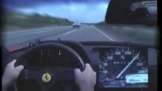 Ferrari F40 On The Road 320 km/h