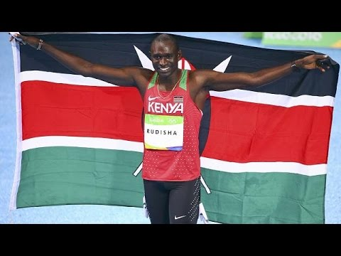 Rudisha wins Kenya's second gold to retain 800m title