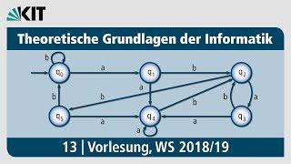13: Theoretische Grundlagen der Informatik, Vorlesung, WS 2018/19