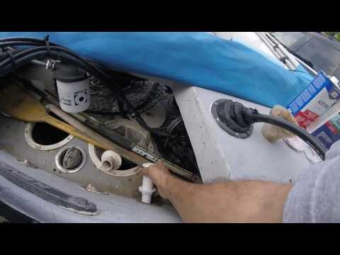 Kenner Boat Transom Disaster Averted- Scupper Repair
