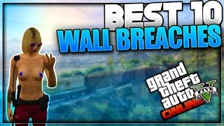 GTA 5 Online - Top 10 Wall Breach Glitches! - NEW Glitches After Patch 1.35 (GTA 5 Best Glitches)