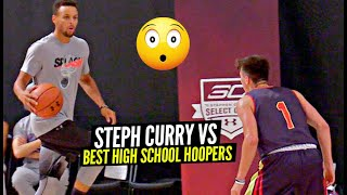 Steph Curry COOKING The Best High School Players In Scrimmages At His OWN Camp!!