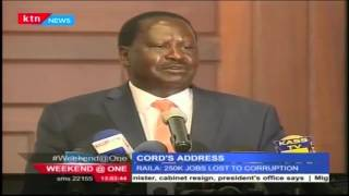 CORD Leader Raila Odinga dismisses President Uhuru's address as mere propaganda
