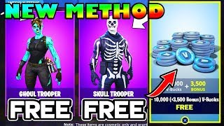 *FREE* V Bucks & Skull Trooper Skins in Fortnite! (NEW METHODS)