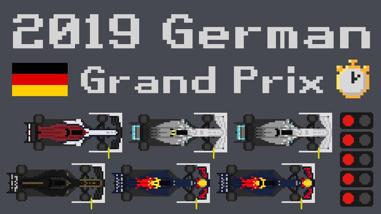Animated Timelapse 2019 German F1 GP | F1-Fansite com