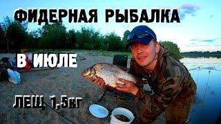 Фидерная рыбалка с ночевкой / фидер в июле