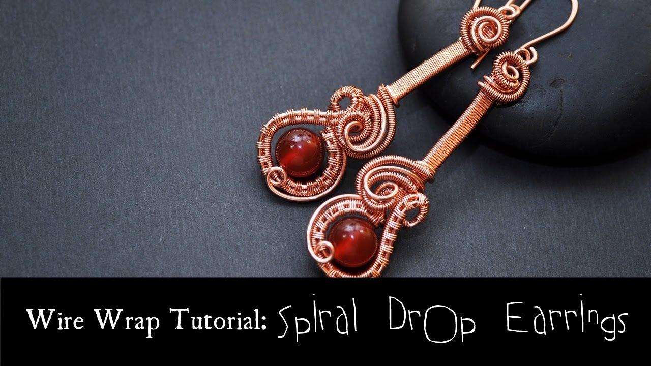 c711014ef5ed4a BEGINNER WIRE WEAVING TUTORIAL Spiral Drop Earrings - YouTube