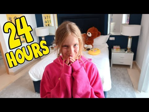 24 Hours Overnight Challenge in My Brothers Room!!!!