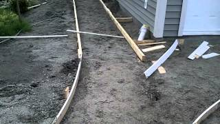 Garage Build Part 14 - Building Curved Concrete Sidewalk Forms