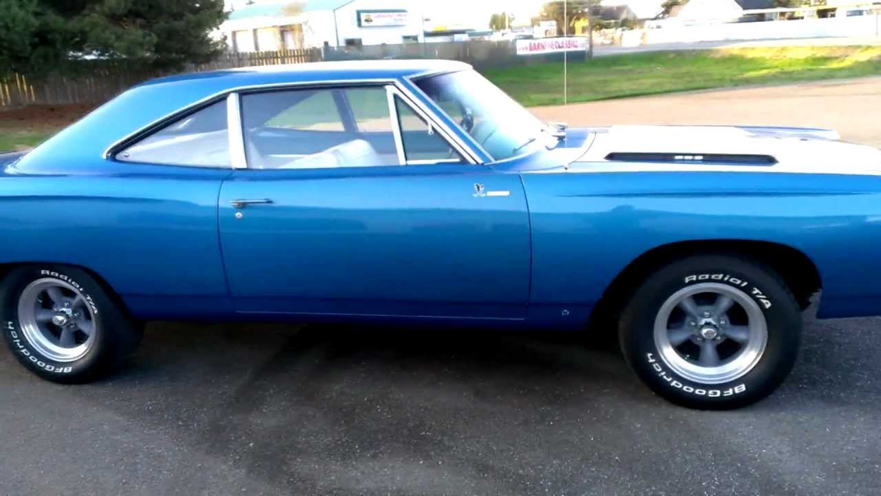 1968 plymouth road runner blue youtube. Black Bedroom Furniture Sets. Home Design Ideas